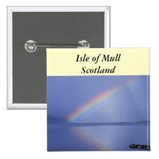 Isle of Mull Rainbow Button