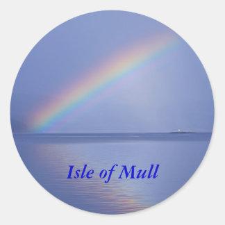 Isle of Mull Rainbow Classic Round Sticker