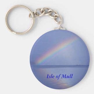 Isle of Mull Rainbow Keychain