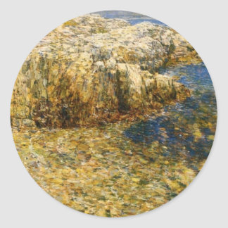 Isle Of Shoals by Frederick Childe Hassam Round Stickers