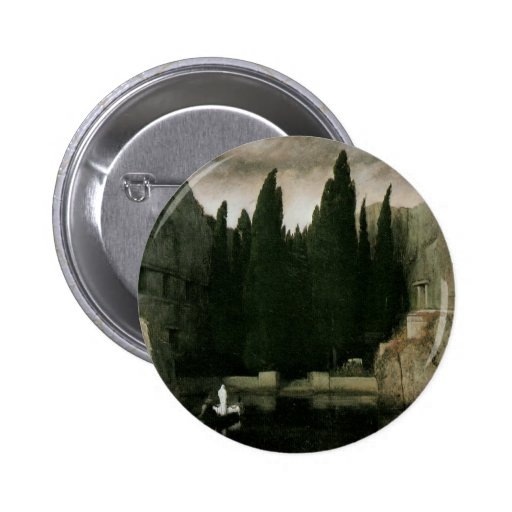 Isle of the Dead by Arnold Bocklin, Symbolism Art 2 Inch Round Button