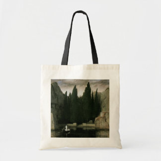 Isle of the Dead by Arnold Bocklin, Symbolism Art Budget Tote Bag