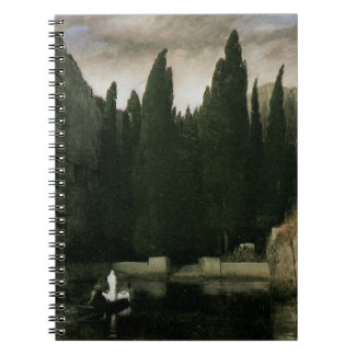 Isle of the Dead by Arnold Bocklin, Symbolism Art Notebook
