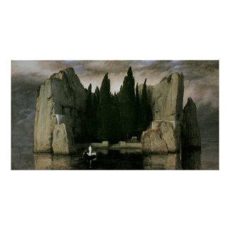 Isle of the Dead third version by Arnold Bocklin Poster