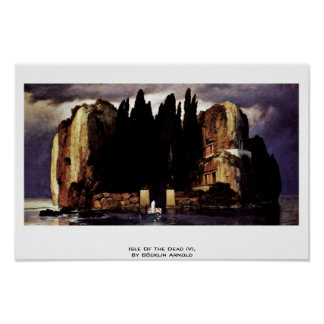 Isle Of The Dead (V),  By Böcklin Arnold Poster