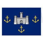Isle Of Wight Council, United Kingdom flag Greeting Card