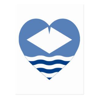 Isle of Wight Flag Heart Postcard