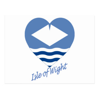 Isle of Wight Flag Heart with Name Postcard