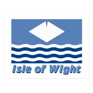 Isle of Wight Flag with Name Postcard