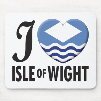 Isle of Wight Love Mouse Pad