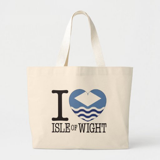 Isle of Wight Love v2 Tote Bags