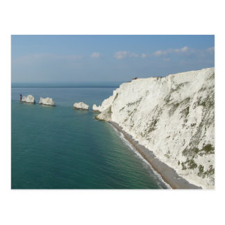 Isle of Wight Needles and Cliffs Postcard