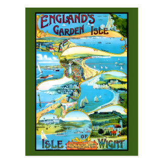 Isle of Wight Travel Poster Postcard