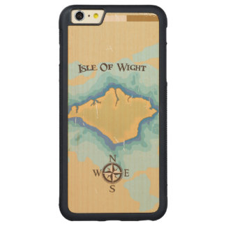 Isle of Wight Treasure map travel poster Carved Maple iPhone 6 Plus Bumper Case