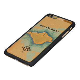 Isle of Wight Treasure map travel poster Carved Maple iPhone 6 Plus Slim Case