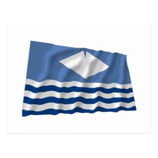 Isle of Wight Waving Flag Postcard