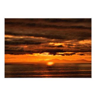 ISLE OFF SKYE SUNSET ART PHOTO