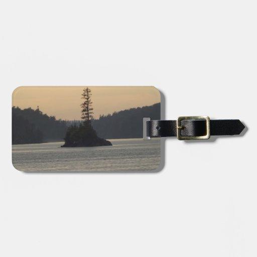 isle royale lake superior tag for luggage