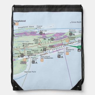 Isle Royale (Michigan) map backpack