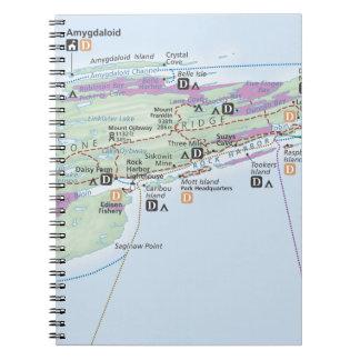 Isle Royale (Michigan) map notebook