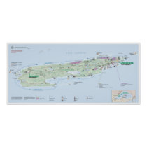 Isle Royale (Michigan) map poster