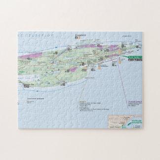 Isle Royale (Michigan) map puzzle