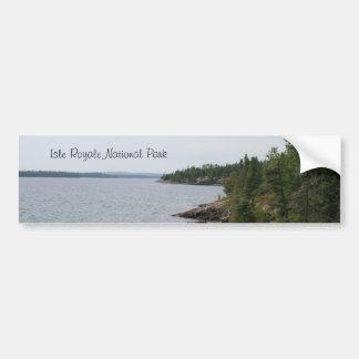 Isle Royale National Park Bumper Sticker Car Bumper Sticker