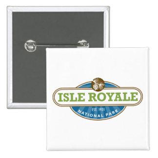 Isle Royale National Park - Michigan Button