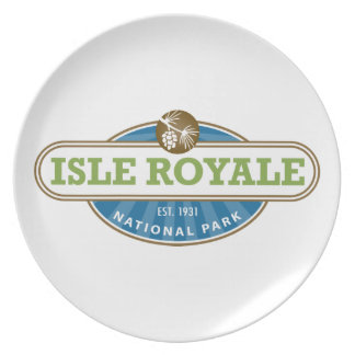 Isle Royale National Park - Michigan Dinner Plate