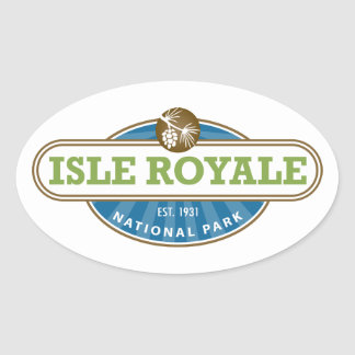 Isle Royale National Park - Michigan Oval Sticker