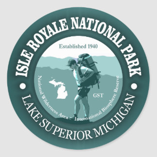Isle Royale NP Classic Round Sticker