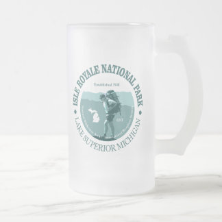 Isle Royale NP Frosted Glass Beer Mug