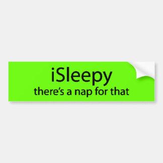 iSleepy hay siesta para ese insomnio soñoliento di Pegatina Para Auto