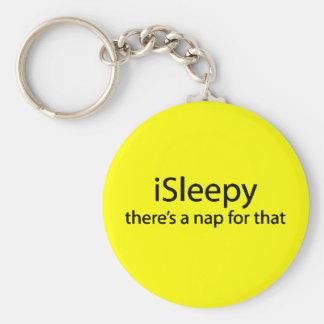 iSleepy theres nap for that funny sleepy insomnia Keychain
