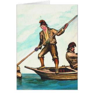 Isleños feroeses 1862 tarjeta de felicitación