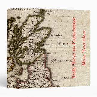Isles Britanniques - 1700 Nicolas Fils Sanson Map 3 Ring Binder