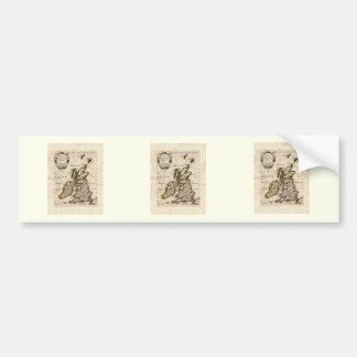 Isles Britanniques - 1700 Nicolas Fils Sanson Map Bumper Sticker