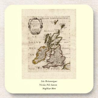 Isles Britanniques - 1700 Nicolas Fils Sanson Map Drink Coaster