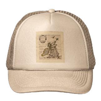 Isles Britanniques - 1700 Nicolas Fils Sanson Map Hats