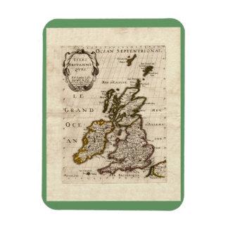Isles Britanniques - 1700 Nicolas Fils Sanson Map Magnet