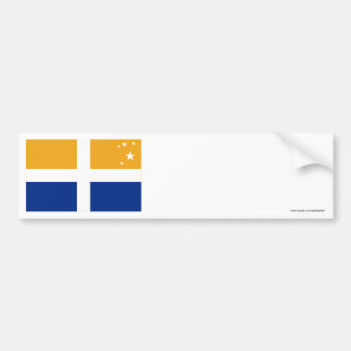 Isles of Scilly Flag Car Bumper Sticker