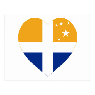 Isles of Scilly Flag Heart Postcard