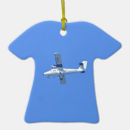 Isles Of Scilly Skybus Double-Sided T-Shirt Ceramic Christmas Ornament