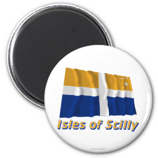 Isles of Scilly Waving Flag with Name Magnet