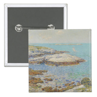 Isles of Shoals 1899 oil on canvas Pinback Button