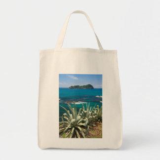 Islet and coastal vegetation tote bag
