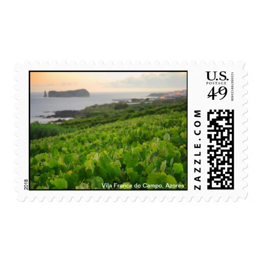 Islet and Vineyards Stamp