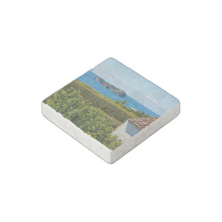 Islet in Azores Stone Magnet