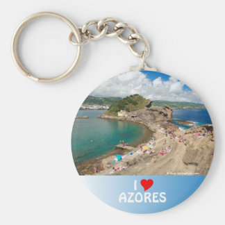 Islet in the Azores Basic Round Button Keychain