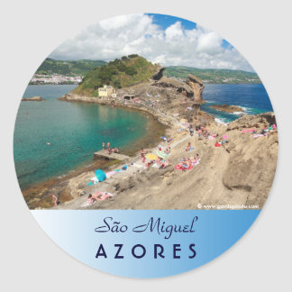 Islet in the Azores Classic Round Sticker